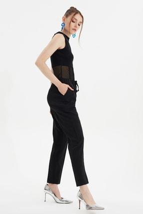TRENDYOLMİLLA Siyah Bağlama Detaylı Pantolon TWOSS19ST0212 1