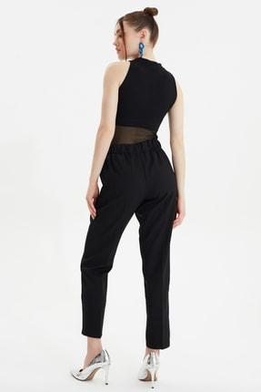 TRENDYOLMİLLA Siyah Bağlama Detaylı Pantolon TWOSS19ST0212 4