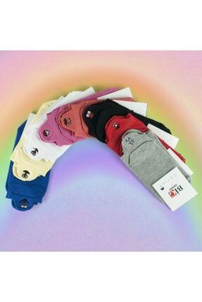 Yalıncak Çorap Unisex Emoji  Gökkuşağı Paketi Çoraplar 8'lı 0