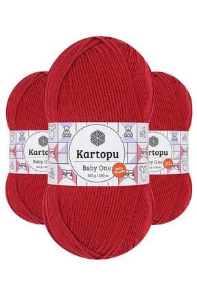 Kartopu Baby One K125 (Bayrak Kırmızı) Anti-pilling El Örgü Ipi/yünü 1 Adet 0