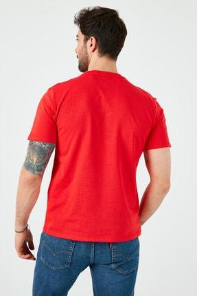 Levi's Erkek Kırmızı Regular Fit Bisiklet Yaka T-Shirt 3