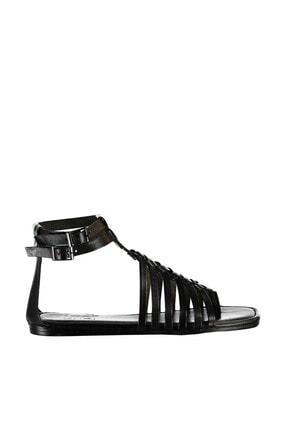 İnci Hakiki Deri Siyah Kadın Sandalet 120130000047 1