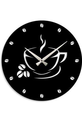 HediyeMANYA Kahve Tasarımlı Dekoratif Ahşap Mutfak Duvar Saati 50cm 1