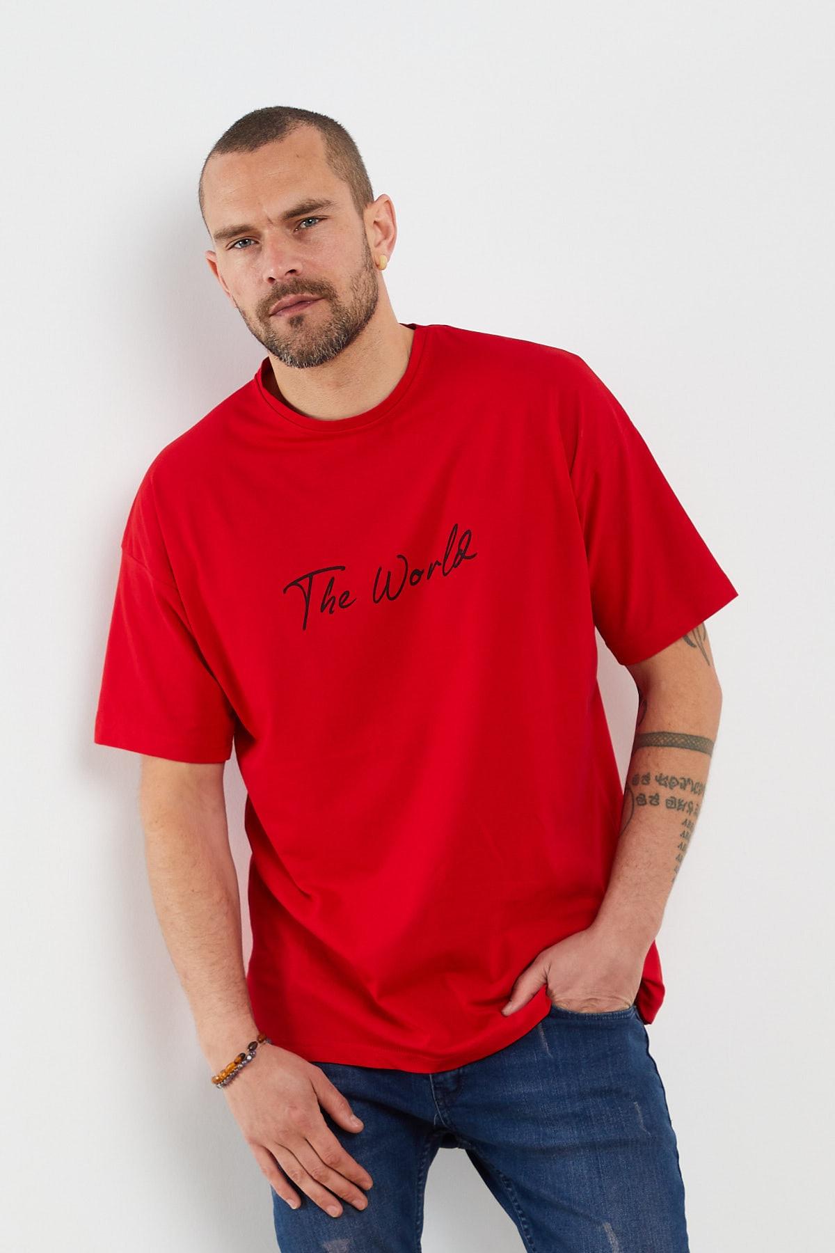 Yazılı Kısa Kollu T-shirt