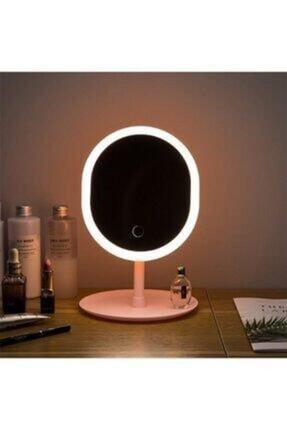 Mopal Consept Depoma Dokunmatik Led Işıklı Usb Li Yuvarlak Masa Üstü Makyaj Aynası 0