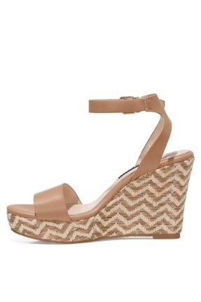 Nine West OBASA 1FX Taba Kadın Dolgu Topuklu Sandalet 101008608 3