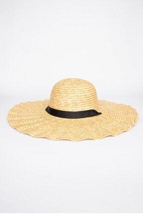 Penti Ekru Shell Straw Şapka 0