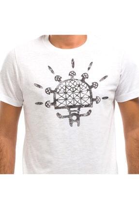 Erkek Beyaz Baskılı T-shirt BGD030711912012