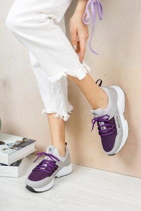 Riccon Kadın Buz Mor Sneaker 0012072 3