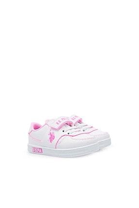US Polo Assn CAMERON 1FX Beyaz Kız Çocuk Sneaker 100909733 2