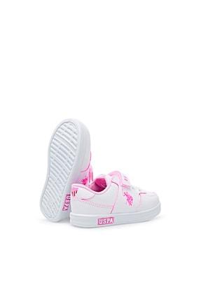 US Polo Assn CAMERON 1FX Beyaz Kız Çocuk Sneaker 100909733 4