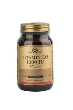 Solgar Vitamin D3 Içeren Takviye Edici Gıda 1000ıu Yumuşak 100 Kapsül 0