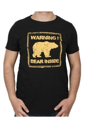 Bad Bear Attentıon Erkek Baskılı Tişört 21.01.07.003 0