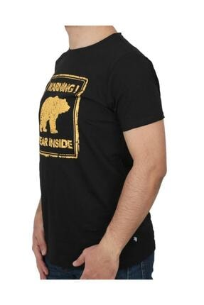 Bad Bear Attentıon Erkek Baskılı Tişört 21.01.07.003 1