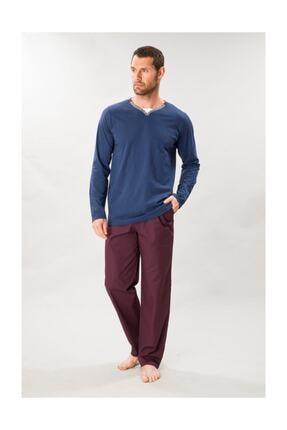 01000 Erkek Uzun Kol Pijama Takımı resmi