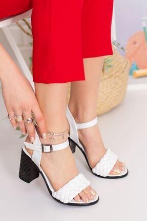 derithy Kadın Beyaz Topuklu Ayakkabı 1