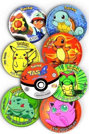 Mutlu Parti Pokemon Taso Şeklinde, Nostaljik, Dekoratif Bardak Altlığı 8 Adet 0