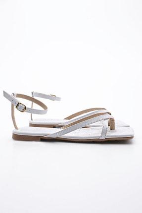 Marjin Kadın Beyaz Parmak Arası Sandalet Parfi 2