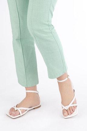 Marjin Kadın Beyaz Parmak Arası Sandalet Parfi 3