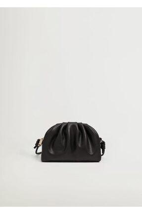 Mango Kadın Siyah Pilili Mini Çanta 2
