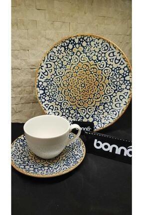 Bonna Alhambra 6 Kişilik Çay Seti Ve Pasta Takımı 0