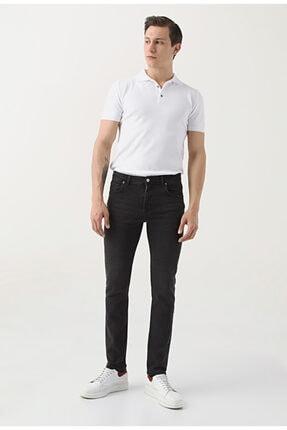 D'S Damat Erkek Siyah  Slim Fit Düz Denim Pantolon 0