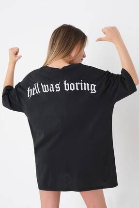 Picture of Baskılı Oversize T-shirt P9586 - C11