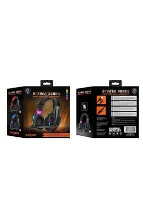 KR Led Işıklı Surround Usb Miofonlu Oyuncu Kulaklığı M9000 4