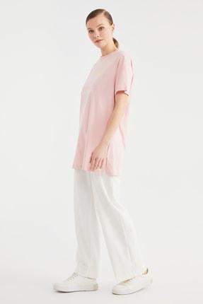 Trendyol Modest Pudra Baskılı Örme Tunik T-shirt TCTSS21TN0410 1