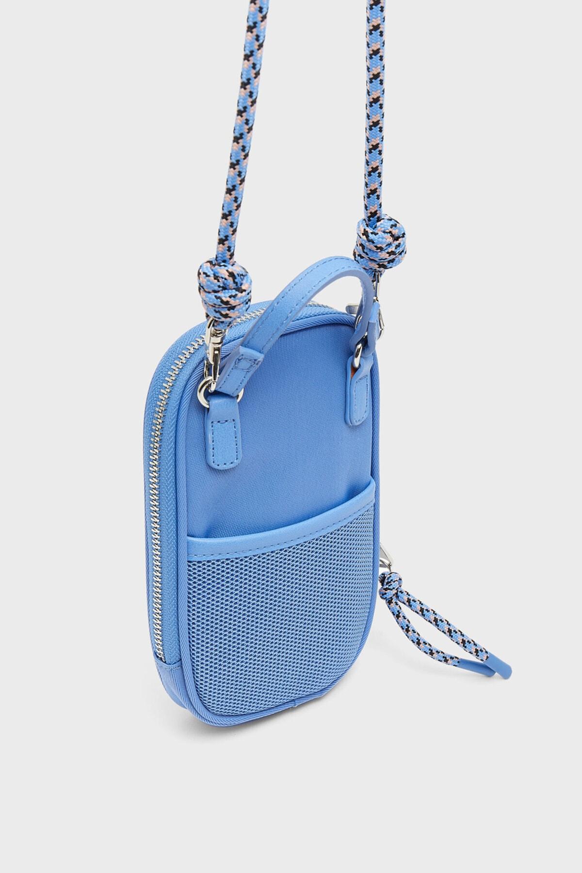 Stradivarius Kadın Mavi Omuz Askılı Telefon Çantası 1