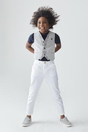 Erkek Çocuk Beyaz Pantolon resmi