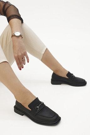 Marjin Kadın Loafer Ayakkabı Racessiyah 3