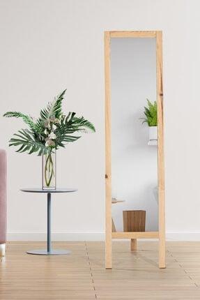 bluecape Floransa 38x145 cm Doğal Ağaç Ayaklı Boy Aynası Antre Hol Koridor Salon Banyo Ofis Çocuk Yatak Odası 2