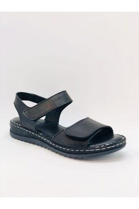 Kadın Hakiki Deri Siyah Sandalet SARIKAYA20812Z
