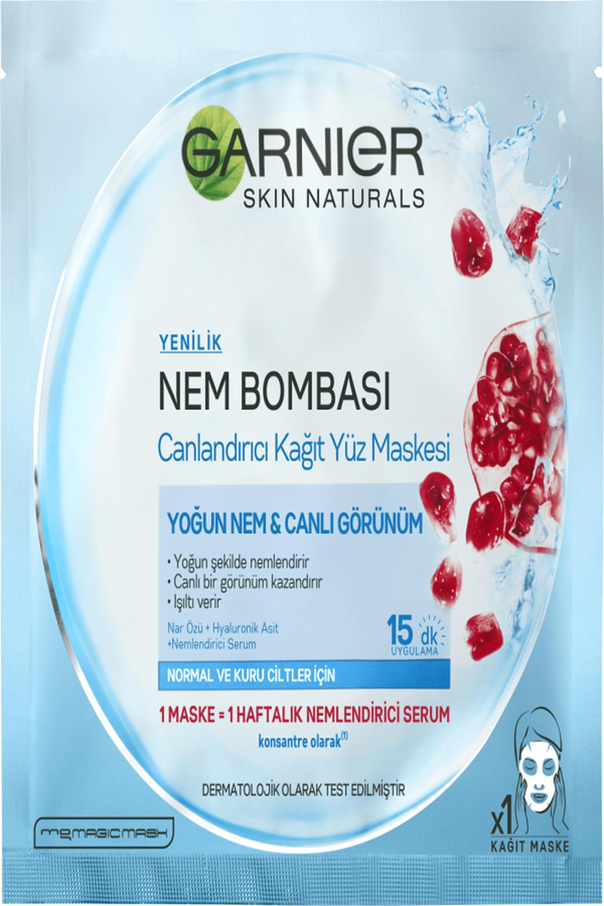 Garnier Nem Bombası Canlandırıcı Kağıt Maske 32 gr 0