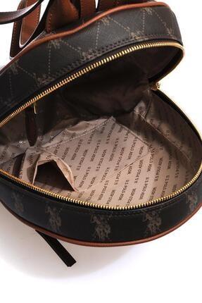 US Polo Assn Us8703 Kahverengi Kadın Sırt Çantası 3