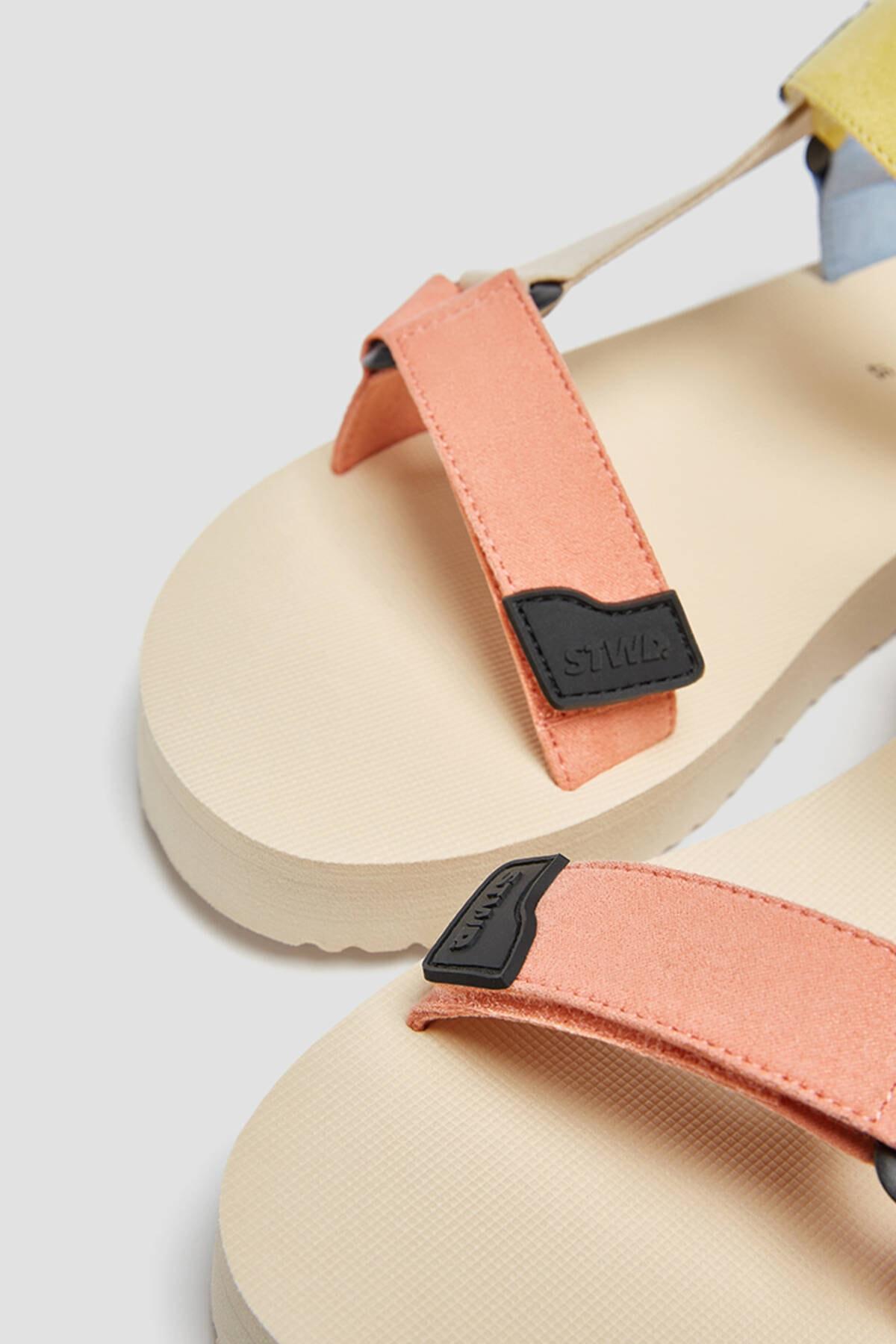 Pull & Bear Kadın Çok Renkli Çok Renkli Spor Sandalet 11708740 2