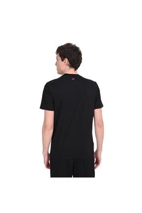 Skechers Graphic Tee's M Aging Brand Print Erkek Siyah Tshirt 1