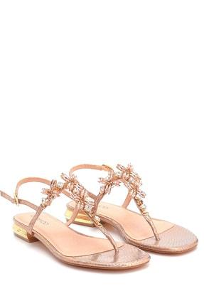 Derimod Kadın Taş Detaylı Sandalet 2