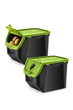 PD-HOME Soğan & Patates Saklama Kabı 2'li 1