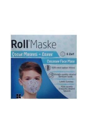 Roll Erkek 5li 6 Zarf 30 Adet Çocuk Maskesi 1