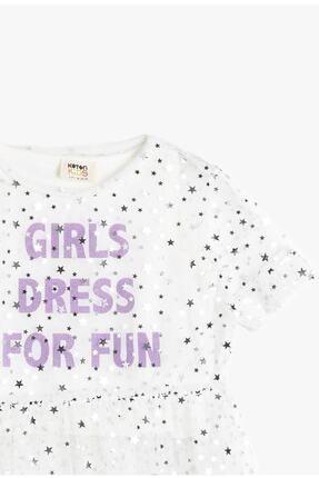 Koton Koton Ekru Kız Çocuk T-shirt 0ykg17966ak 2