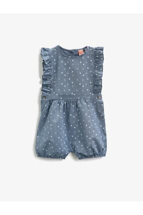 Koton Kız Çocuk Mavi Tulum 0