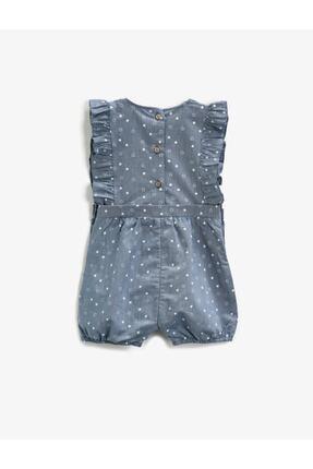 Koton Kız Çocuk Mavi Tulum 1