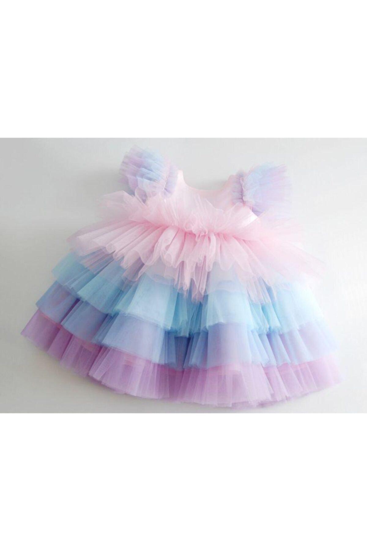 Kız Çocuk Rengarenk Tütü Elbise