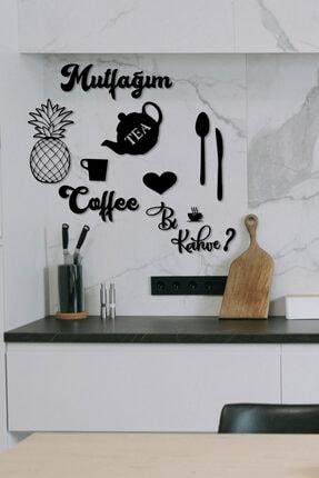 HTS TASARIM Mutfağım Ananas Ve Bi Kahve Mutfak Konsepti Ahşap Duvar Dekoru 2