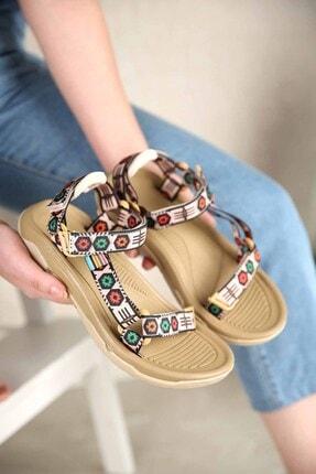 Ccway Kadın Vizon Cırtlı Sandalet 2