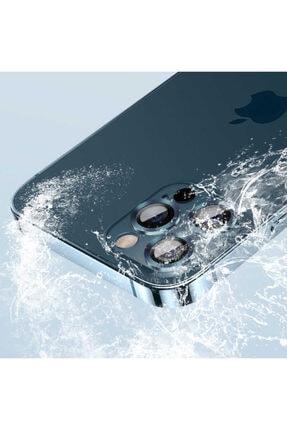 Cep prime Iphone 12 Pro Uyumlu Max ???4 Katmanlı Metal Nano Sistem Tam Koruma Sistem Lens Gold 4