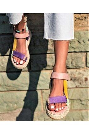 TEOS Ayakkabı Wicker Sandalet 1