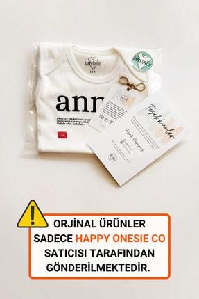 Happy Onesie Co Unisex Bebek Beyaz Teyze Tdk Çıtçıtlı Body 1